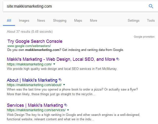 site search makki's marketing